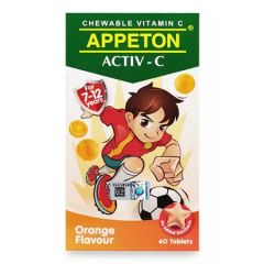 APPETON ACTIV-C VITAMIN C 100MG (ORANGE) CHEWABLE TABLET 60S
