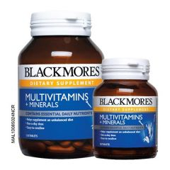 BLACKMORES MULTIVITAMINS + MINERALS TABLET 120S + 30S