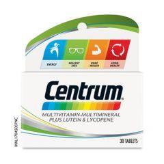 CENTRUM MULTIVITAMINS & MINERALS + LUTEIN & LYCOPENE TABLET 30S