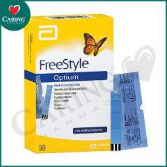 ABBOTT FREESTYLE OPTIUM BLOOD GLUCOSE TEST STRIP 50S