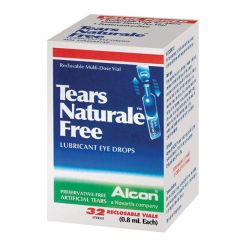 TEARS NATURALE FREE EYE DROPS 0.8ML X 32