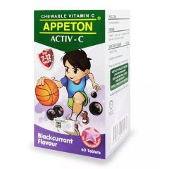 APPETON ACTIV-C VITAMIN C 100MG (BLACKCURRANT) CHEWABLE TABLET 60S