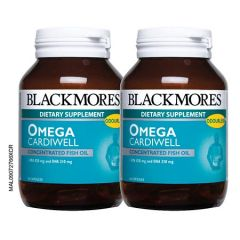 BLACKMORES OMEGA CARDIWELL CONCENTRATED FISH OIL CAPSULE 60S X 2