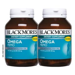 BLACKMORES OMEGA MEMO CONCENTRATED FISH OIL CAPSULE 60S X 2
