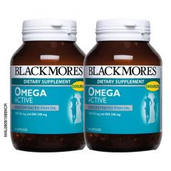 BLACKMORES OMEGA ACTIVE CONCENTRATED FISH OIL CAPSULE 60S X 2