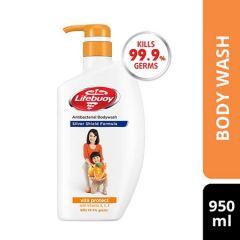 LIFEBUOY ACTIV SILVER VITA PROTECT ANTIBACTERIAL BODY WASH 950ML