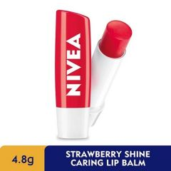 NIVEA LIP CARE FRUITY SHINE STRAWBERRY UV 4.8G