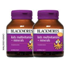 BLACKMORES KIDS MULTIVITAMINS + MINERALS CHEWABLE TABLET 60S X 2