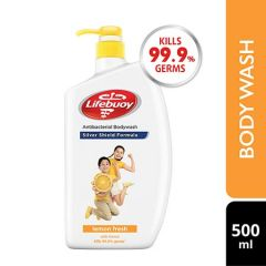 LIFEBUOY SILVER SHIELD LEMON FRESH ANTIBACTERIAL BODY WASH 500ML