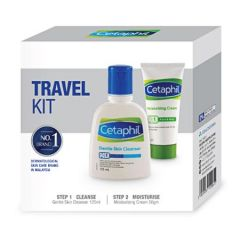CETAPHIL TRAVEL KIT (GENTLE SKIN CLEANSER 125ML + MOISTURIZING CREAM 50G)