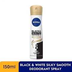 NIVEA DEODORANT BLACK & WHITE (F) SILKY SMOOTH SPRAY 150ML