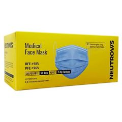 NEUTROVIS MEDICAL FACE MASK BLUE 50S