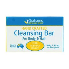 GRAHAMS NATURAL HAND CRAFTED CLEANSING BAR 100G