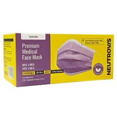 NEUTROVIS ADULT 3PLY PREMIUM MEDICAL FACE MASK PURPLE 50S