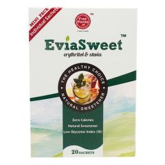 FINE FOODS EVIASWEET NATURAL SWEETENER SACHET 2.5G X 20S