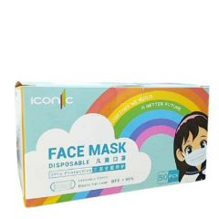 ICONIC PREMIUM CHILDREN 3PLY MASK BLUE 50S