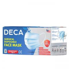 Deca Surgical Disposable Adult Face Mask 50s