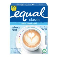 EQUAL CLASSIC SWEETENER TABLET 500S