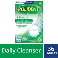 POLIDENT 3 MINUTE DAILY CLEANSER TAB 36S