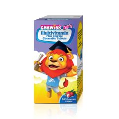 CHEWIES CHILDREN CHEWABLE MULTIVITAMIN + TAURINE TABLET 60S