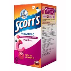 SCOTTS VITAMIN C MIX BERRIES PASTILLES 50S