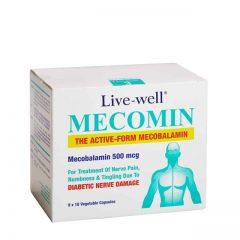 LIVE-WELL MECOMIN 500MCG FOR NERVE DAMAGE VEGETABLE CAPSULE 90S
