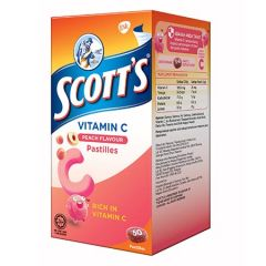 SCOTTS VITAMIN C PEACH PASTILLES 50S