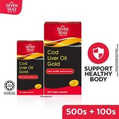 SEVENSEAS COD LIVER OIL GOLD 500's + 100's