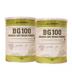 BIOGREEN BG100 ORGANIC OAT BRAN POWDER 500G X 2