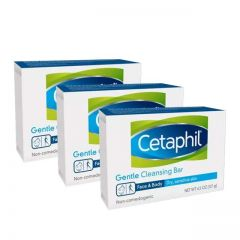 CETAPHIL GENTLE CLEANSING BAR 127G X 3