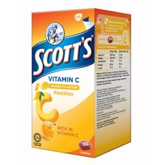 SCOTTS VITAMIN C MANGO PASTILLES 50S