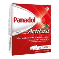 PANADOL ACTIFAST CAPLET 500MG 2X10