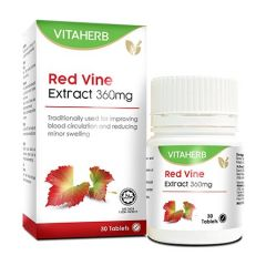 VITAHERB RED VINE EXTRACT 360MG TABLET 30S