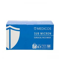 MEDICOS 3PLY BLUE MASK 50S