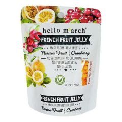 HELLO MARCH FRENCH FRUIT JELLY PASSION FRUIT & CRANBERRY 50G
