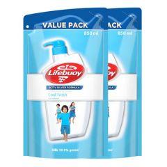 LIFEBUOY BODY WASH COOL FRESH REFILL 850G X 2
