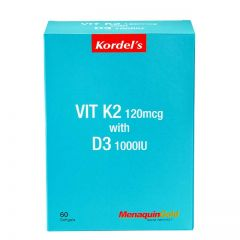 KORDELS VITAMIN K2 120MG+D3 1000IU 60S