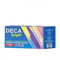 DECA DELIGHTS SURGICAL DISPOSABLE ADULT FACE MASK 50S