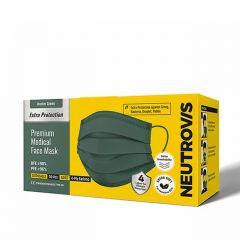 NEUTROVIS 4PLY MASK HUNTER GREEN 50S