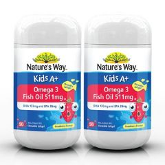 NATURES WAY KIDS A+ OMEGA 3 FISH OIL 50S X 2