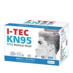 I-TEC KN95 FF2 MEDICAL MASK (WHITE) 20S