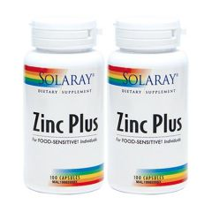 SOLARAY ZINC PLUS 100S X 2