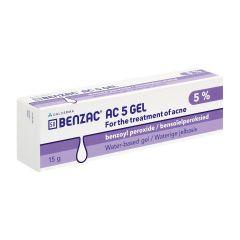 BENZAC AC 5% BENZYL PEROXIDE WATER BASE GEL 15G