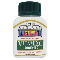 21ST CENTURY VITAMIN C 1000MG PROLONGED RELEASE TABLET 50S