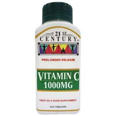 21ST CENTURY VITAMIN C 1000MG PROLONGED RELEASE TABLET 120S