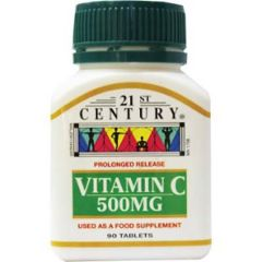 21ST CENTURY VITAMIN C 500MG PROLONGED RELEASE TABLET 90S