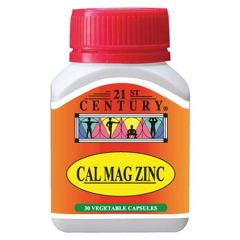 21ST CENTURY CAL MAG ZINC VEGETABLE CAPSULE 30S