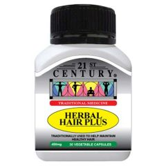 21ST CENTURY HERBAL HAIR PLUS VEGETABLE CAPSULE 30S