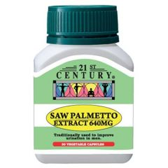 21ST CENTURY SAW PALMETTO EXTRACT 640MG VEGETABLE CAPSULE 30S