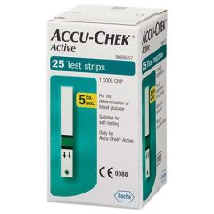 ACCU-CHEK ACTIVE BLOOD GLUCOSE TEST STRIP 25S